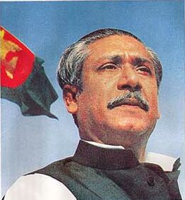 Mujibur Rahman, the father of Bangladesh.